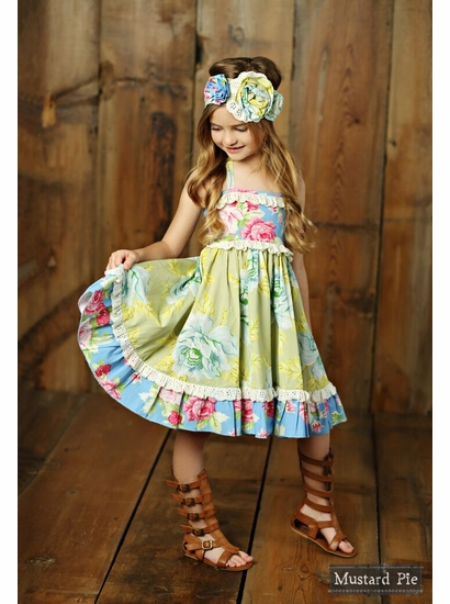 Mustard Pie Apple Blossom Floral Ashton Dress