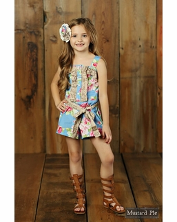 Mustard Pie Apple Blossom Lucinda Romper  BEST SELLER