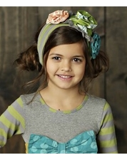 Mustard Pie Jeweled Forest Olive Flora Headband