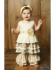 Mustard Pie Sweet Pea Two Piece Lily Dress & Pant Set OUT OF STOCK