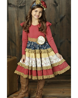 Mustard Pie Woodland Magic Mckenna Red Fall Holiday Dress *FINAL FEW*