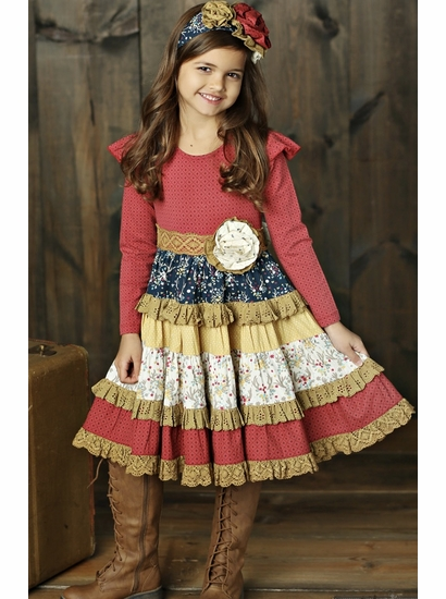 Mustard Pie Woodland Magic Mckenna Red Fall Holiday Dress *OUT OF STOCK
