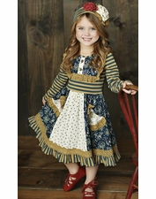 Mustard Pie Woodland Magic Stripe Scrappy Ramona Dress *FINAL SALE* SOLD OUT