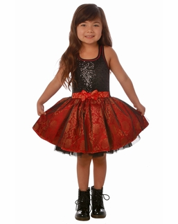 Ooh La La Couture Black and Red Sequin Tie Bow Dress