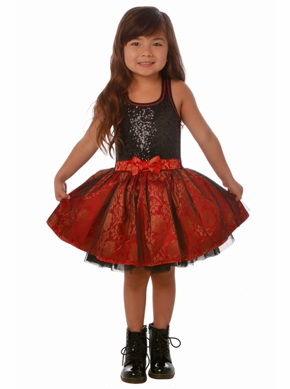 Ooh La La Couture Black and Red Sequin Tie Bow Dress *FINAL TWO!