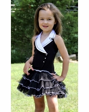 Ooh La La Couture Black & White Classy Tuxedo Dress SOLD OUT
