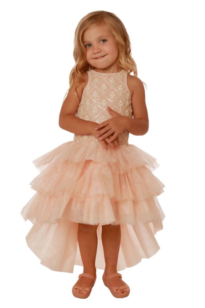 Ooh la la couture high low champagne and pink dress for High couture dresses