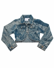 Ooh La La Couture Denim Cropped Bolero Cut Jacket OUT OF STOCK