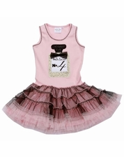 Ooh La La Couture LIGHT Pink & Black Perfume Birthday Dress *FINAL FEW