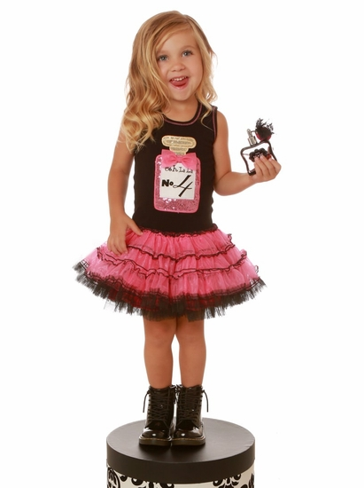 Ooh La La Couture Pink & Black Perfume Bottle BIRTHDAY Dress *LOW STOCK!