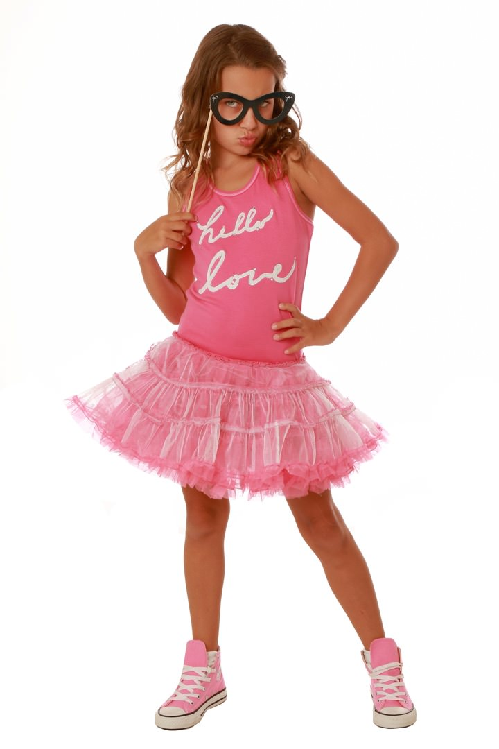 Ooh la la couture pink hello love tank dress for La couture clothing