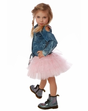 Ooh La La Couture Pink Parfait Tutu Denim Tie Dress *PREORDER*