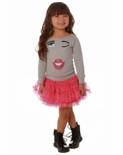 Ooh La La Couture Silver & Candy Pink Winky Dress *PREORDER*