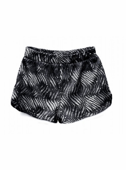 Over the Top TWEEN Black Overlay Shorts *FINAL SALE*