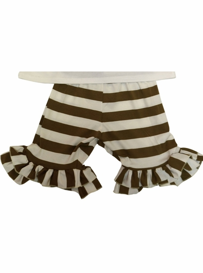 Owl's & Bat's Brown Stripe Cotton Knit Shorts *FINAL SALE BLOW OUT* SOLD OUT