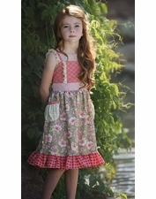 "Persnickety Stripe ""A Pocket Full of Posies"" Tavia Dress *FINAL SALE*"
