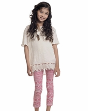 "Persnickety ""Wonderstruck"" Pink Lisel Legging *FINAL SALE*"