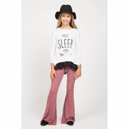 """PPLA Clothing White """"Must Sleep MORE"""" Trendy Tee *FINAL SALE* SIZE S"""