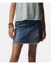 "PPLA ""Madelyn"" Distressed Denim Skirt"