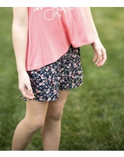"PPLA Navy ""Fitz"" Ditzy Floral Print Short *FINAL SALE*"