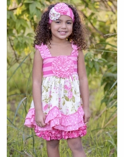 """Serendipity """"Wild Rose"""" Swing Top & Stripe Icings WITH Head Band"""