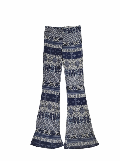 Tru Luv Navy Bohemian Knit Pant *FINAL SALE BLOW OUT* SOLD OUT
