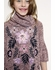 Truly Me Half Bell Sleeve Dress w/Cowl Neck & Floral Embroidery *OUT OF STOCK