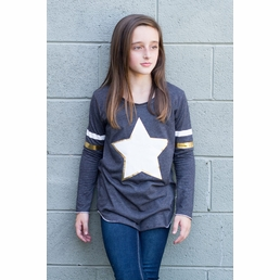 Vintage Havana Charcoal Varsity Star Tunic Top SOLD OUT