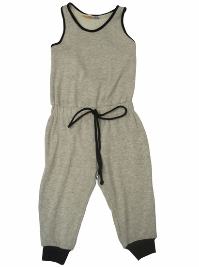 Vintage Havana Heather Grey French Terry Knit Drawstring Jumpsuit *FINAL SALE BLOW OUT* SOLD OUT