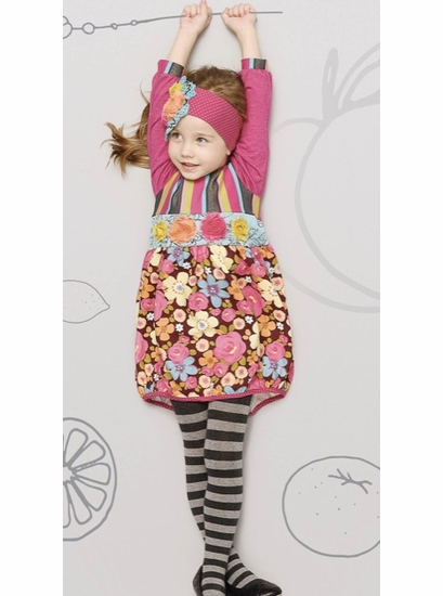 "ZAZA Couture ""Fruit Cake"" Floral & Stripe Bubble Dress *FINAL SALE* SOLD OUT"