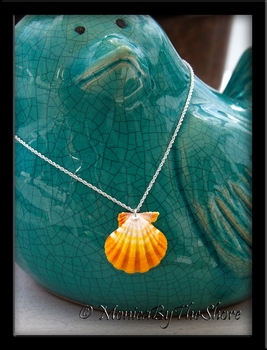 Bright Lemon Yellow and White Hawaiian Sunrise Shell Necklace