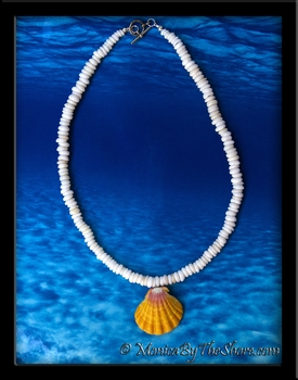 Classic Hawaiian North Shore Puka Shells and Sunrise Shell Necklace