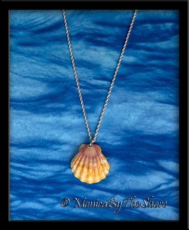 Dainty Hawaiian Sunrise Shell Sterling Silver Necklace
