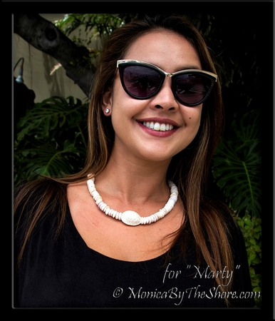 "Custom Granulated ""Bumpy"" Cowrie & Chunky Puka Shells Necklace for ""Marty"""