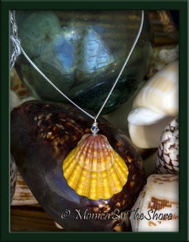 Giant Classic Hawaiian Sunrise Shell & Swarovski Crystal Necklace