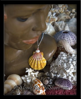 Sunrise Shell with Puka and Kahealani Shells Silver Neckalce