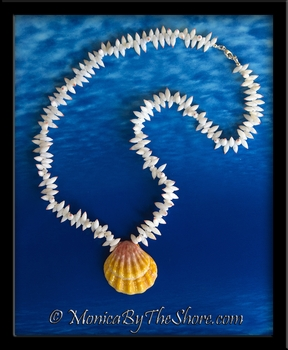 Tahitian Arutura Shells and Hawaiian Sunrise Shell Necklace
