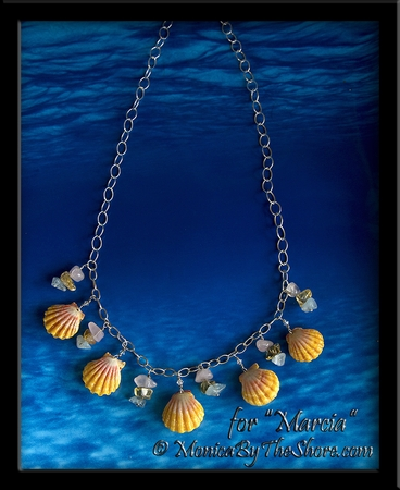 """Whole Pair Hawaiian Sunrise Shell and Gemstone Necklace for """"Marcia"""""""
