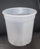 "6"" clear round tall pot"