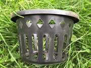 "6"" round black net basket"
