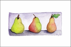 3 Pears Boxed Gift Enclosure Cards