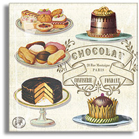 Chocolat & Desserts Glass Tray - Small