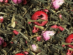Cranberry Rose Tea - Delicious Premium Loose Green Tea