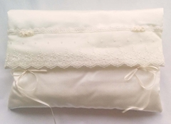 White Satin and English Net Lace Lingerie Case
