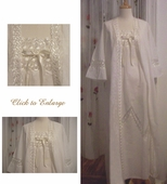 Ginestra Cotton Nightgown and Robe - Made In Italy
