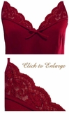 Hers Silk & Cotton Knit Chemise with Lace Trim