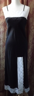 Raquel Luxurious Long Silk Charmuese & French Lace Nightgown