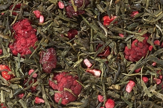 Orchid Berry -Strawberry-Rhubarb Premium Loose Green Tea - Great Hot or Iced