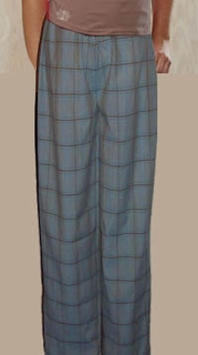 Luxury Handmade French Cotton Sleep Pant with Ribbon Tie - Made in USA by Pampour Couture