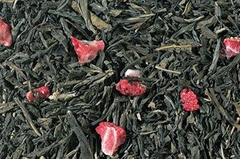 Strawberry Loose Green Tea - CO2 Decaf  - Premium - Great Hot or Iced